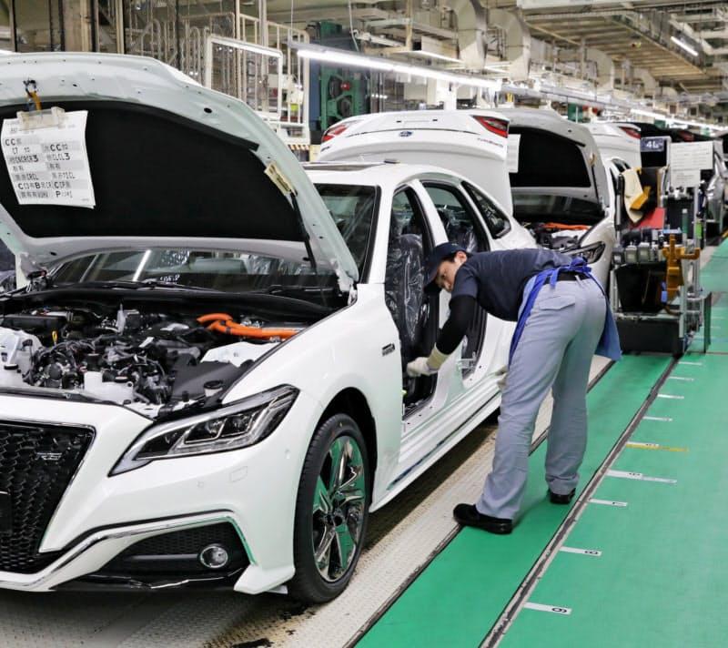 トヨタ自動車は期間工の採用を一時抑制したが、足元の生産は復調へ(愛知県豊田市)