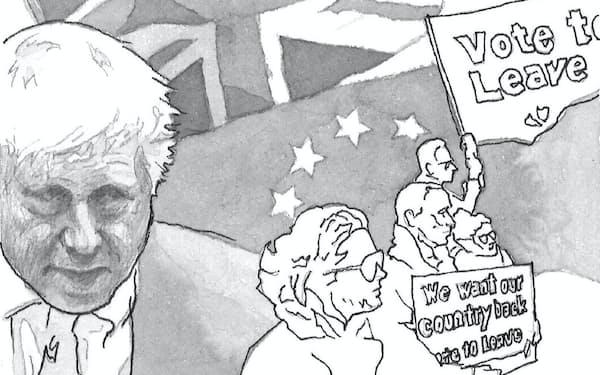 英国の離脱はEUの力を減殺し、EUのあり方を変質させる可能性がある                                                       イラスト・よしおか じゅんいち
