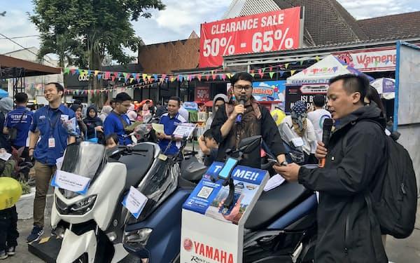 ヤマハ発はインドネシアで同社で初となる「つながるバイク」を発売(地方でのイベント)