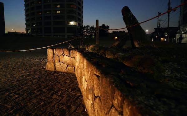 三田浜楽園の跡地には高層マンションが建ち、隣に残っていた割烹旅館も更地になった=藤井凱撮影