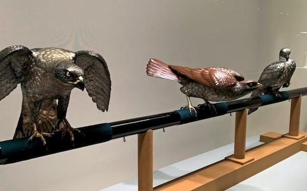 重要文化財「十二の鷹」の一部も展示している