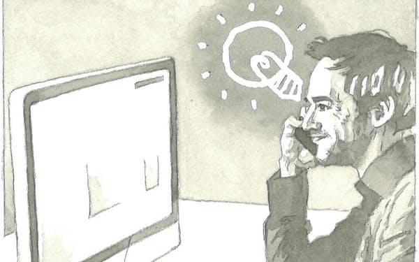 「デザイン思考」はユーザーの潜在的な要望を捉えて新たな価値を生み出す                                                        イラスト・よしおか じゅんいち