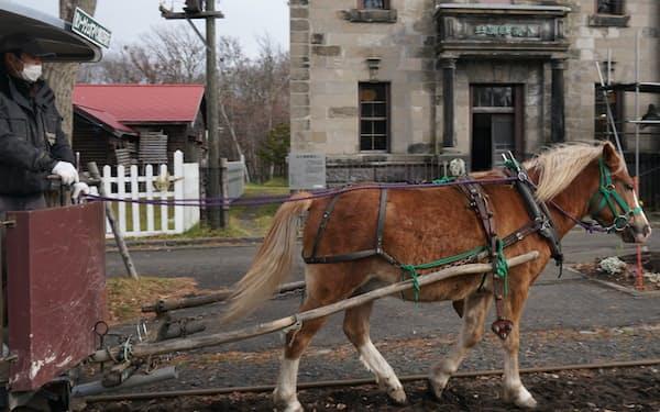 市街地郡には馬車鉄道が走っている