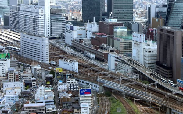 名古屋市中心部には大企業の支店が多い