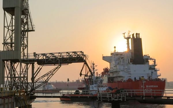 昨秋、燃料アンモニアを積んだ船がサウジアラビアの港から日本に向け出航した