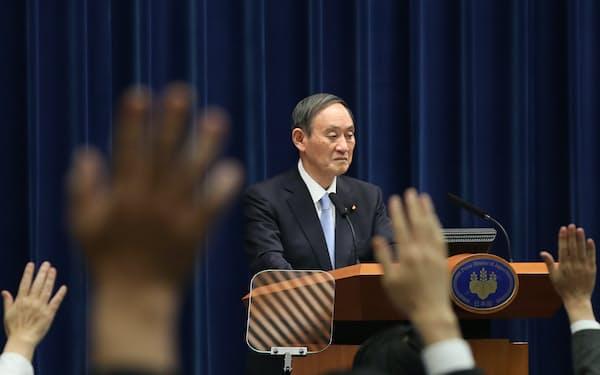 5日の記者会見は菅首相の五輪開催へのこだわりがにじみ出た(首相官邸)