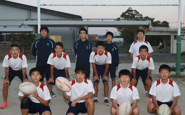 大分県豊後高田市の「中学ラグビー部」は20年10月に発足した