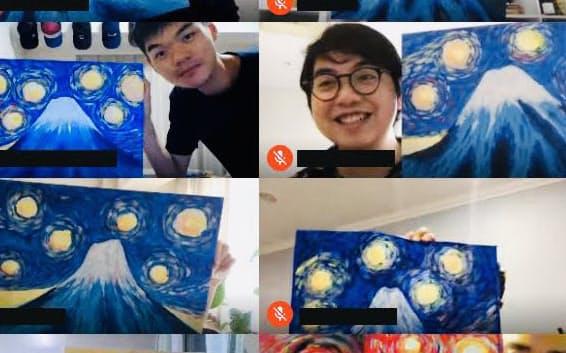 Artbar Tokyo(東京都渋谷区)はビデオ会議向けに絵画プログラムを提供