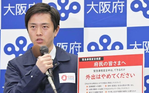 大阪府の吉村洋文知事は変異ウイルスへの警戒を繰り返し呼びかけてきた