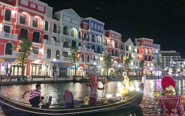 ビングループが開業したリゾート施設「グランドワールド」(ベトナム南部、フーコック島)
