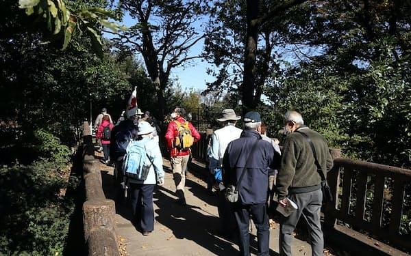 JTBのOB・OG会は玉川上水を散歩する催しを開いた(20年11月)