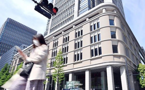 コロナ下で都心のオフィス賃料は下落基調が続く(東京都千代田区)