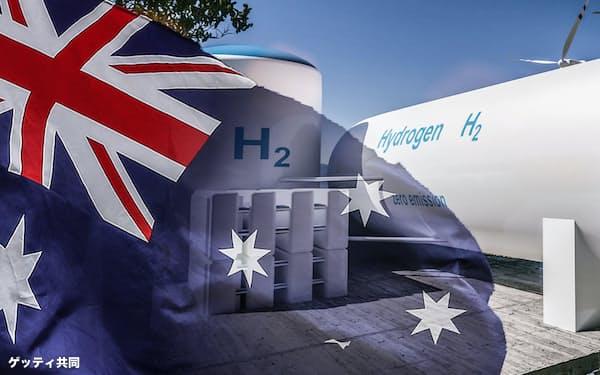 「ブルー水素」と「グリーン水素」のどちらを推進するかで論争が起きている(写真はゲッティ共同)
