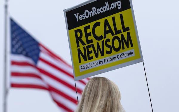 ニューサム知事は9月14日の住民投票で50%以上の信任票を得なければ解職される=ロイター