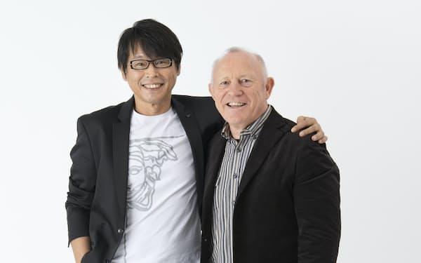 ラジオ講座でも共演するマクベイさんは長年の友人だ