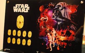 スター・ウォーズのキャラクターをあしらった純金製の小判