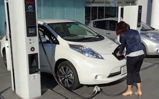 電気自動車の「リーフ」はランニングコストが安いのが魅力だ