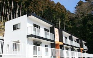 メゾネットタイプの町営若者住宅