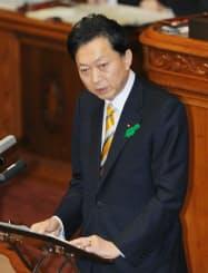 23日、参院本会議で答弁する鳩山首相