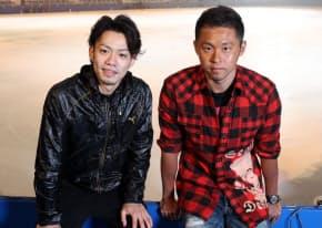 高橋大輔(左)と北島康介(右)が世界で戦うことについて語り合った