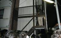 都内最高齢の女性が住民登録しているアパート(2日午後、東京都杉並区)