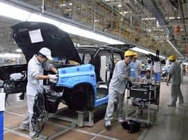日産自動車の合弁会社が20日に稼働を始めたSUVの新工場(河南省鄭州市)
