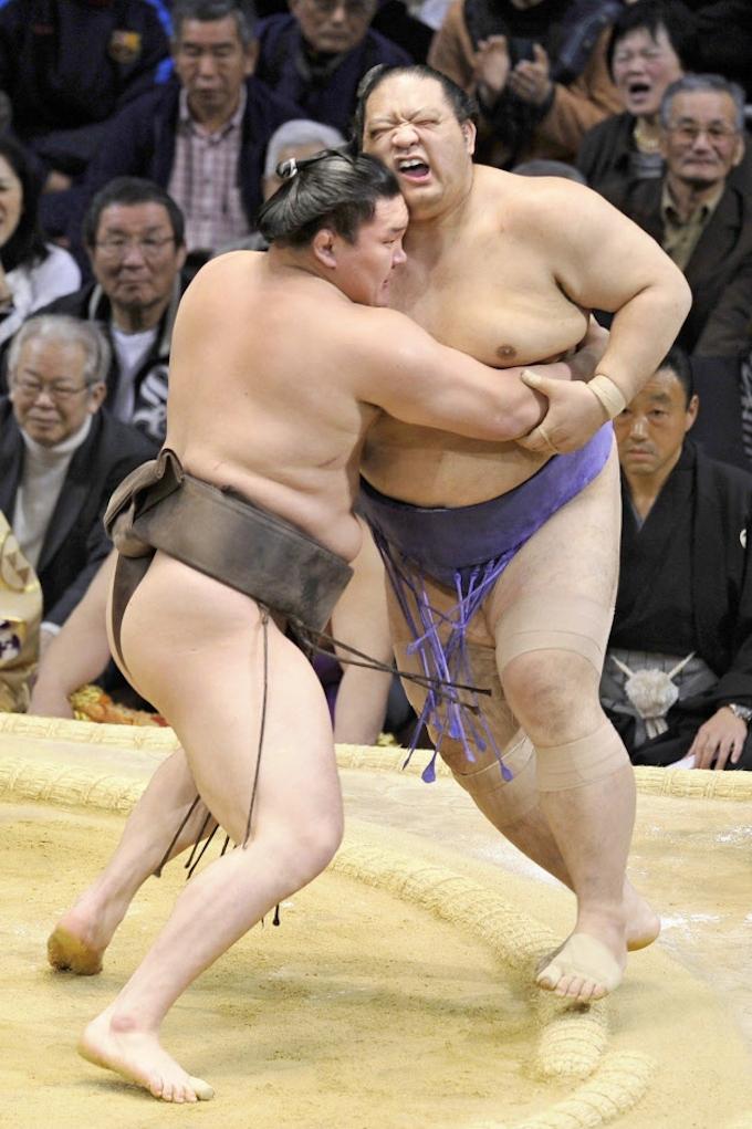 白鵬と豊ノ島が1敗、魁皇は2敗に後退 大相撲13日目: 日本経済新聞