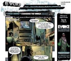 「EVOKE」の公式サイト画面