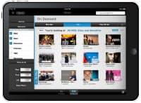 コムキャストが提供しているiPad向けのテレビ番組オンデマンド配信サービスの画面