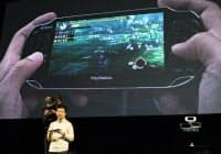 PSNはPS3やPSPを使ってゲームなどを利用できる(PSPのデモ)