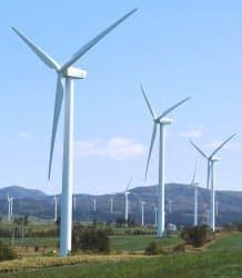 日本風力開発二又発電所(青森県六ケ所村)の風力発電機