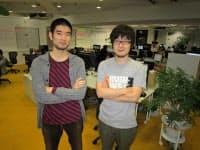 カヤック(神奈川県鎌倉市)の技術者、大塚雅和氏(左)と堤修一氏