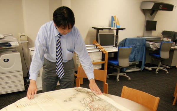 東京市政調査会の図書館が所蔵する東京復興計画一般図(東京都千代田区)