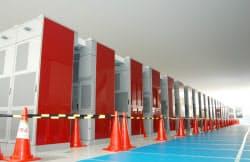 計算速度で世界ランキング1位に選ばれたスーパーコンピューター「京」=理化学研究所提供