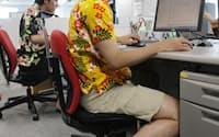 楽天ではアロハシャツに短パン、ビーチサンダルでの勤務も可能(東京都品川区)