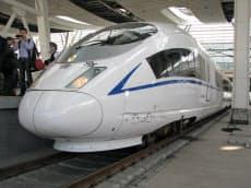 27日、メディアに公開された中国版新幹線(北京南駅)