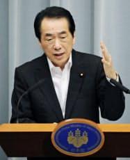 首相の記者会見は与野党に波紋を広げた(13日夕、首相官邸)