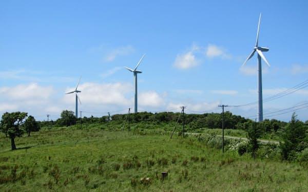 東北では新エネルギーへの期待が高まっている(岩手県葛巻町の風力発電施設)