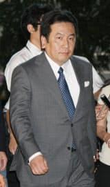 経産相就任が決まり首相官邸に入る枝野氏(12日午後)
