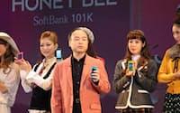 ソフトバンクは「HONEY BEE」をはじめ女性向けスマートフォンもラインアップした