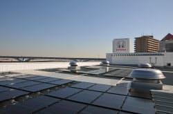 ホンダの新店舗に設置された太陽光発電システム(東京・足立)