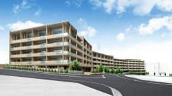 建設するマンションは総戸数92戸で駅直結のデッキを設ける(イメージ)