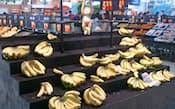 中国のスーパーからフィリピン産バナナが消えた。国産品だけが残る(北京市内のスーパー)