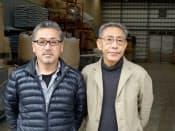 ジェイラップの伊藤俊彦代表取締役(左)と、NPO法人チェルノブイリ救援・中部の河田昌東理事
