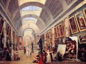ユベール・ロベール「ルーヴルのグランド・ギャラリー展示計画」(1796年)