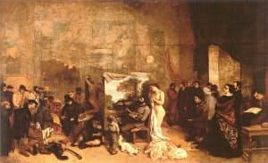 ギュスターヴ・クールベ「画家のアトリエ」(1855年)