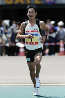 仙台国際ハーフマラソンを走る藤原新。「すべての力をロンドン五輪に向ける段階にある」と語る