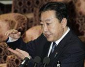 衆院予算委で答弁する野田首相(12日)=共同