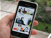 スマートフォンでマンガが読める(eBookJapanでダウンロードした『サラリーマン金太郎』)