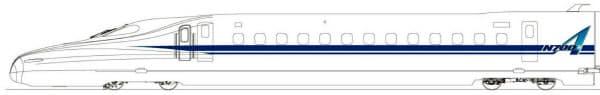 新型車両「N700A」のイメージ=JR東海提供